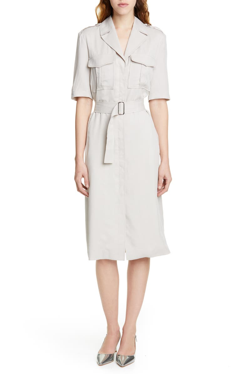 JUDITH & CHARLES Altura Trench Style Shirtdress, Main, color, BEIGE