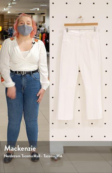 The Hustler High Waist Fray Hem Ankle Bootcut Jeans, sales video thumbnail