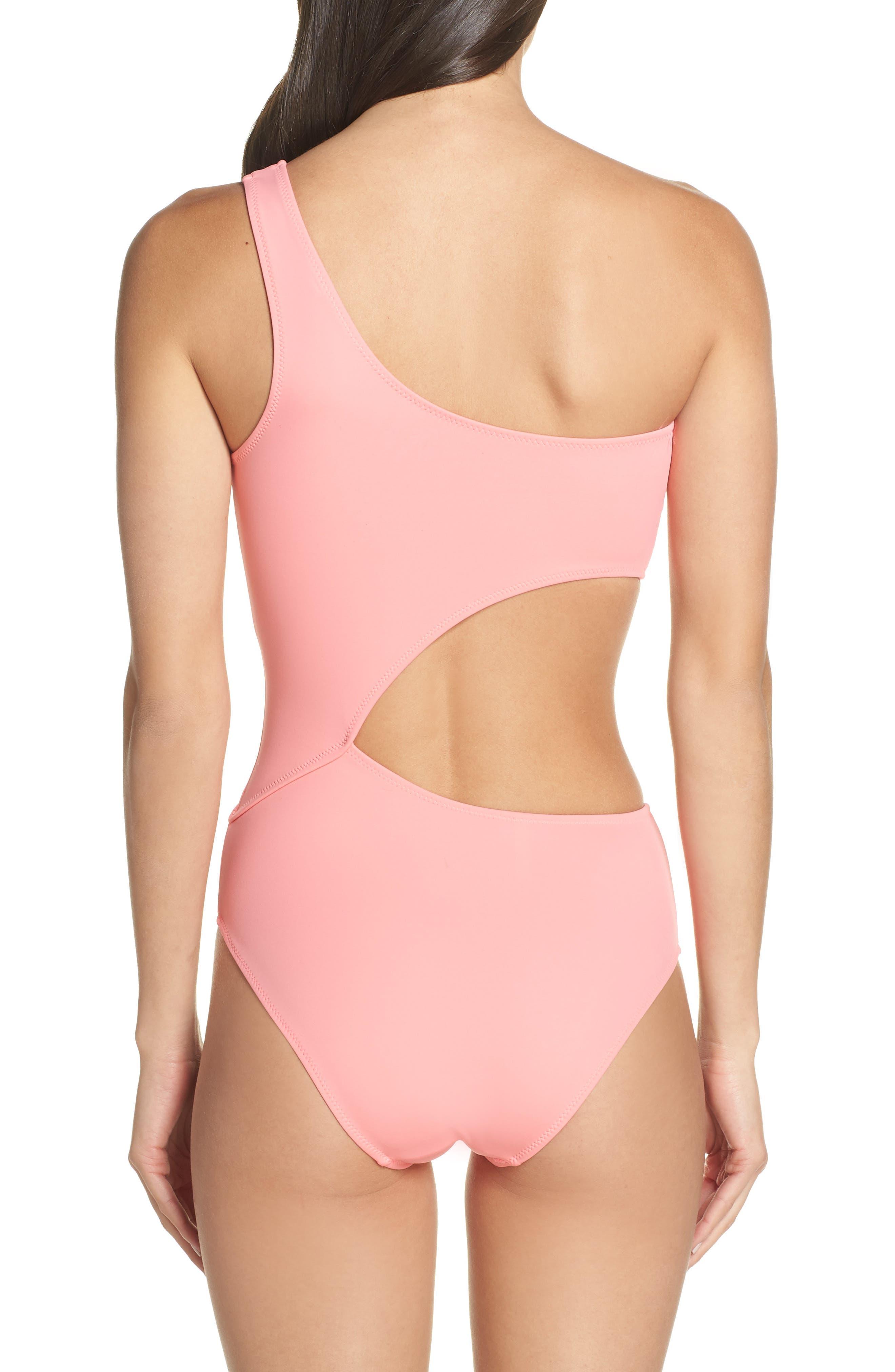 ,                             Claudia One-Piece Swimsuit,                             Alternate thumbnail 2, color,                             FLAMINGO