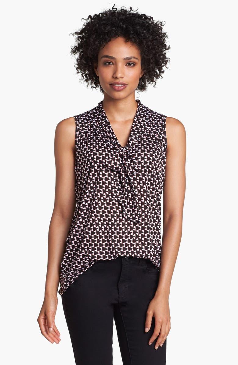 OLIVIA MOON Sleeveless Tie Neck Knit Shirt, Main, color, 005