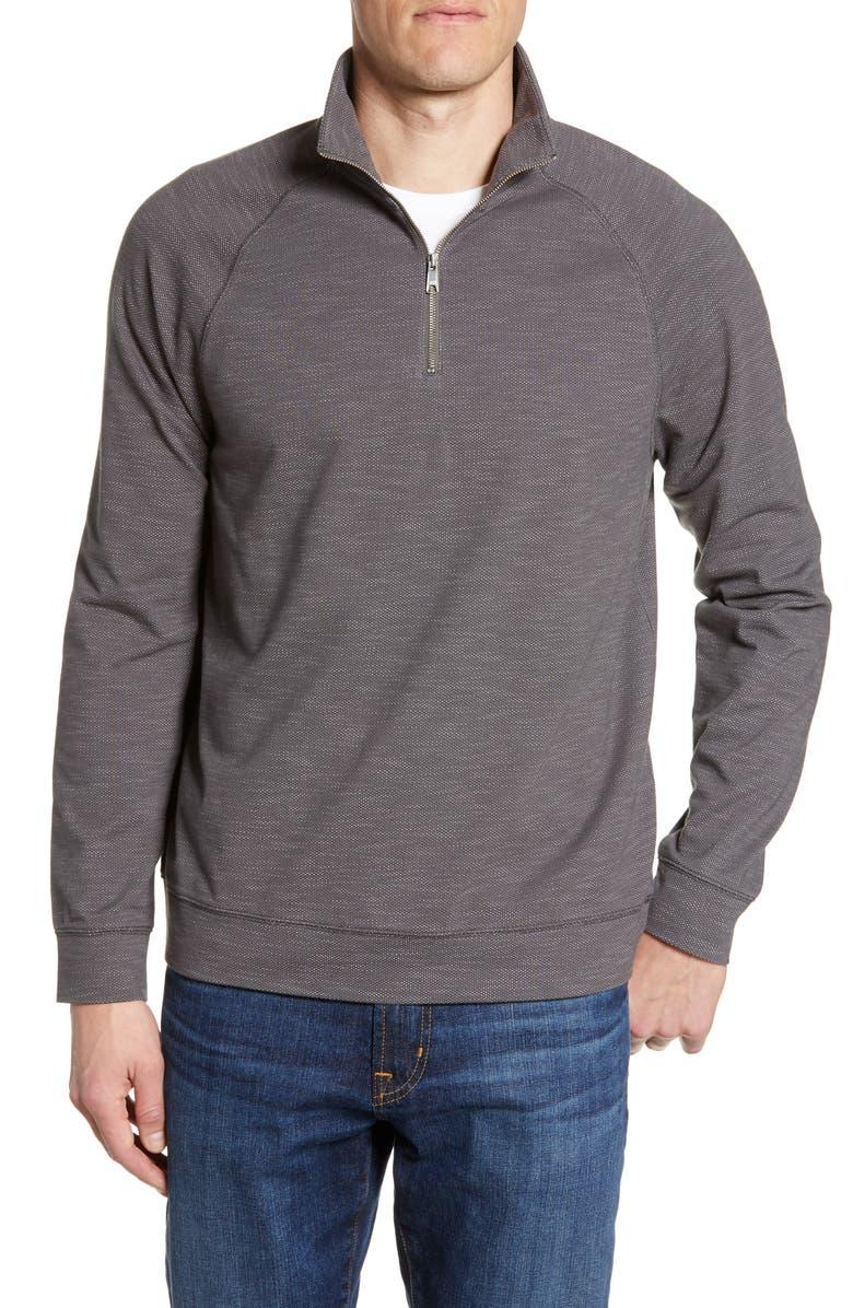 NORDSTROM MEN'S SHOP Tech-Smart Quarter Zip Performance Pullover, Main, color, GREY MAGNET
