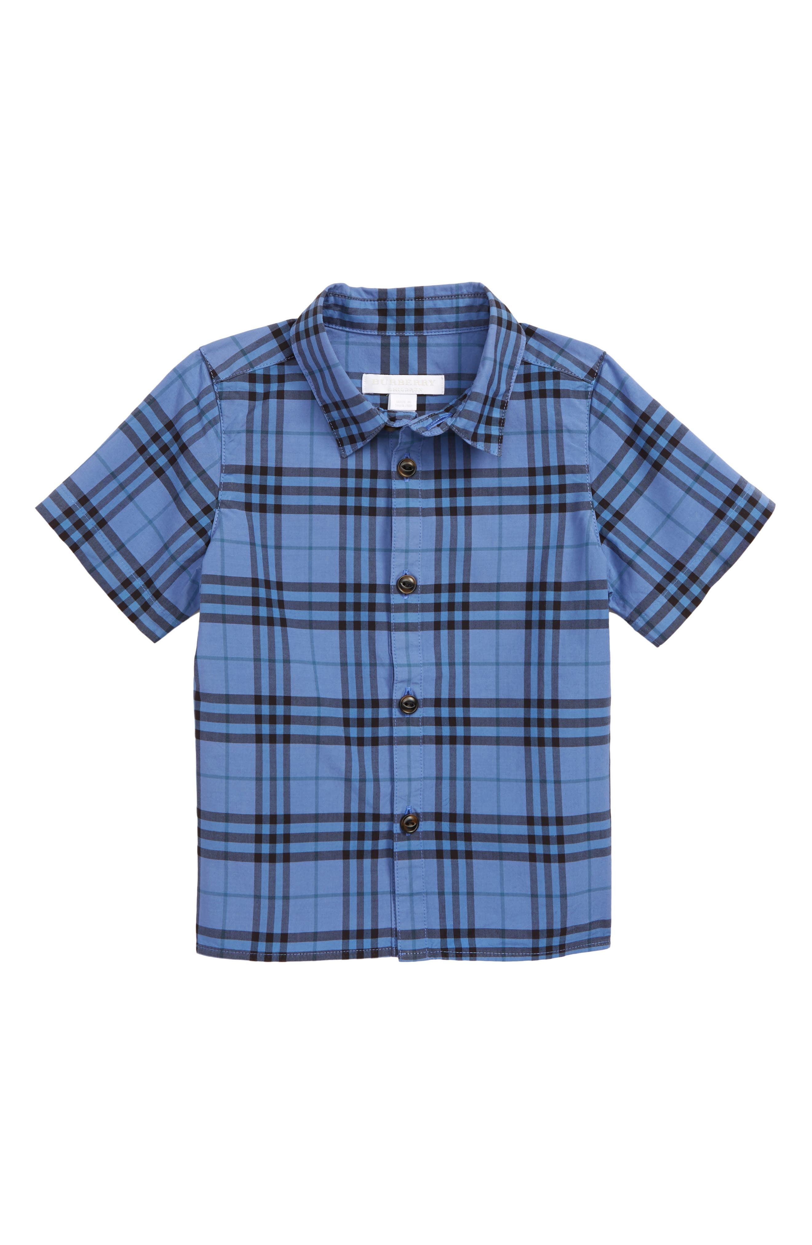 ,                             Sammi Dye Plaid Woven Shirt,                             Main thumbnail 1, color,                             DUSTY BLUE