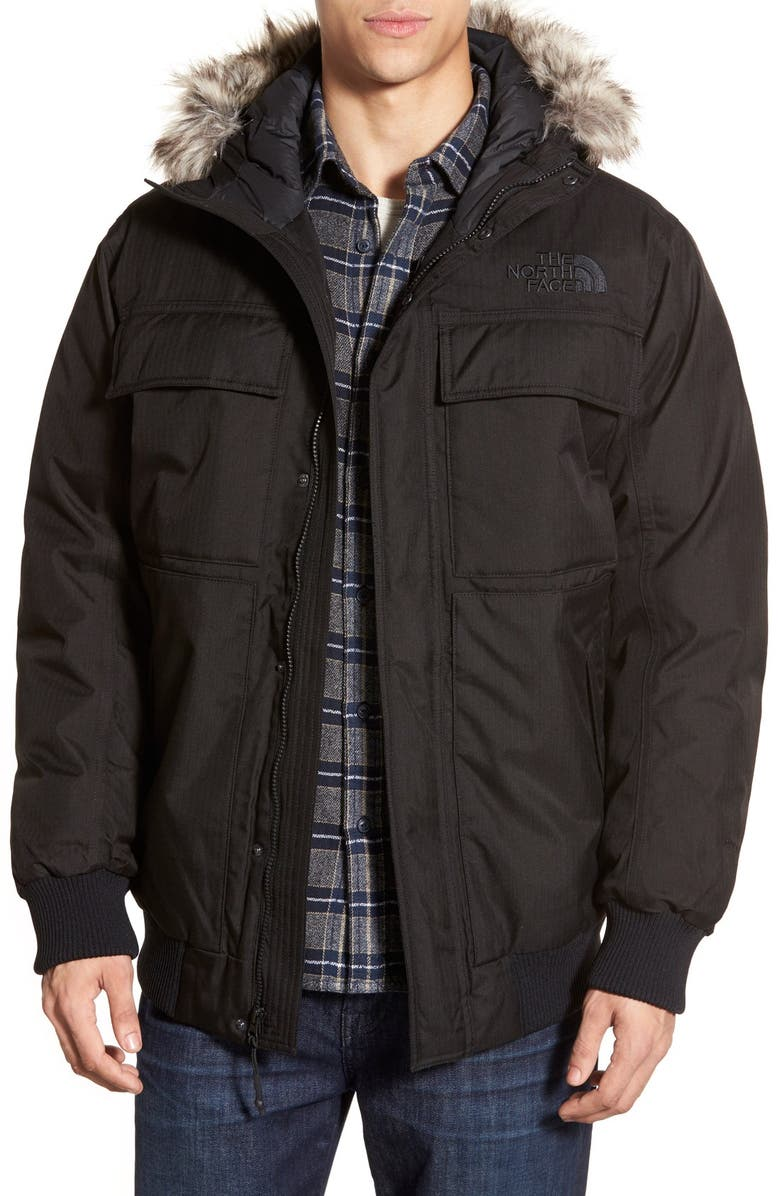 1cf03aeae The North Face 'Gotham II' Hooded Goose Down Jacket with Faux Fur ...