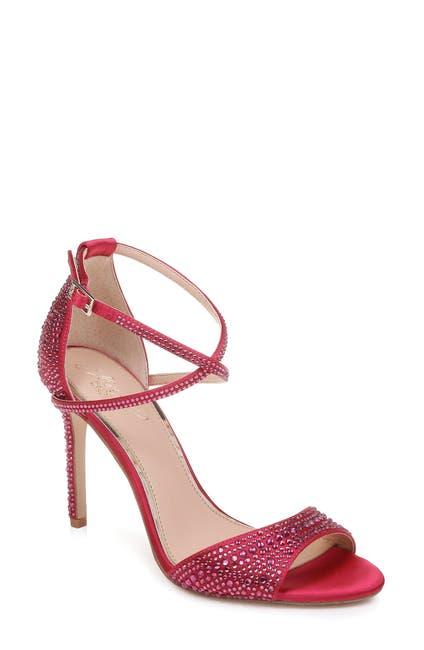 Image of Jewel Badgley Mischka Dillon Crystal Embellished Sandal