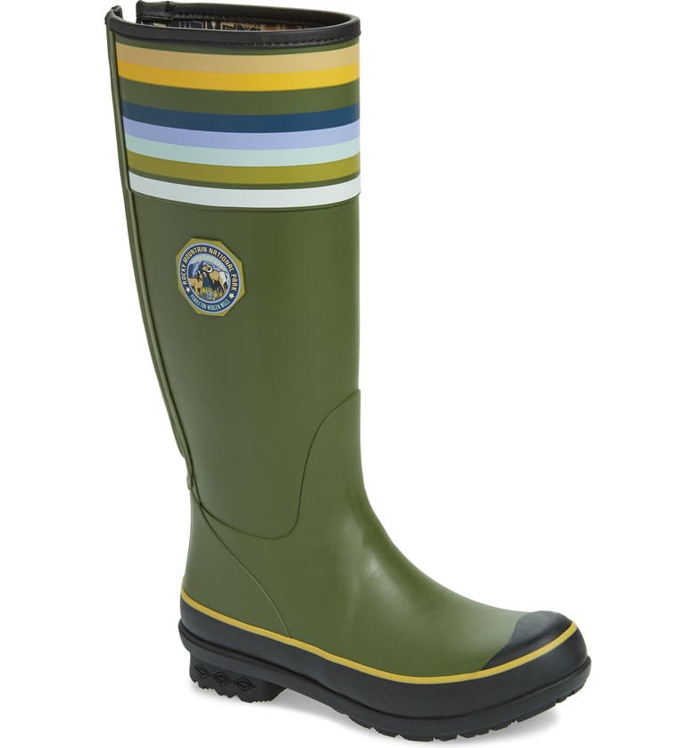 PENDLETON Rocky Mountain National Park Tall Rain Boot, Main, color, OLIVE RUBBER