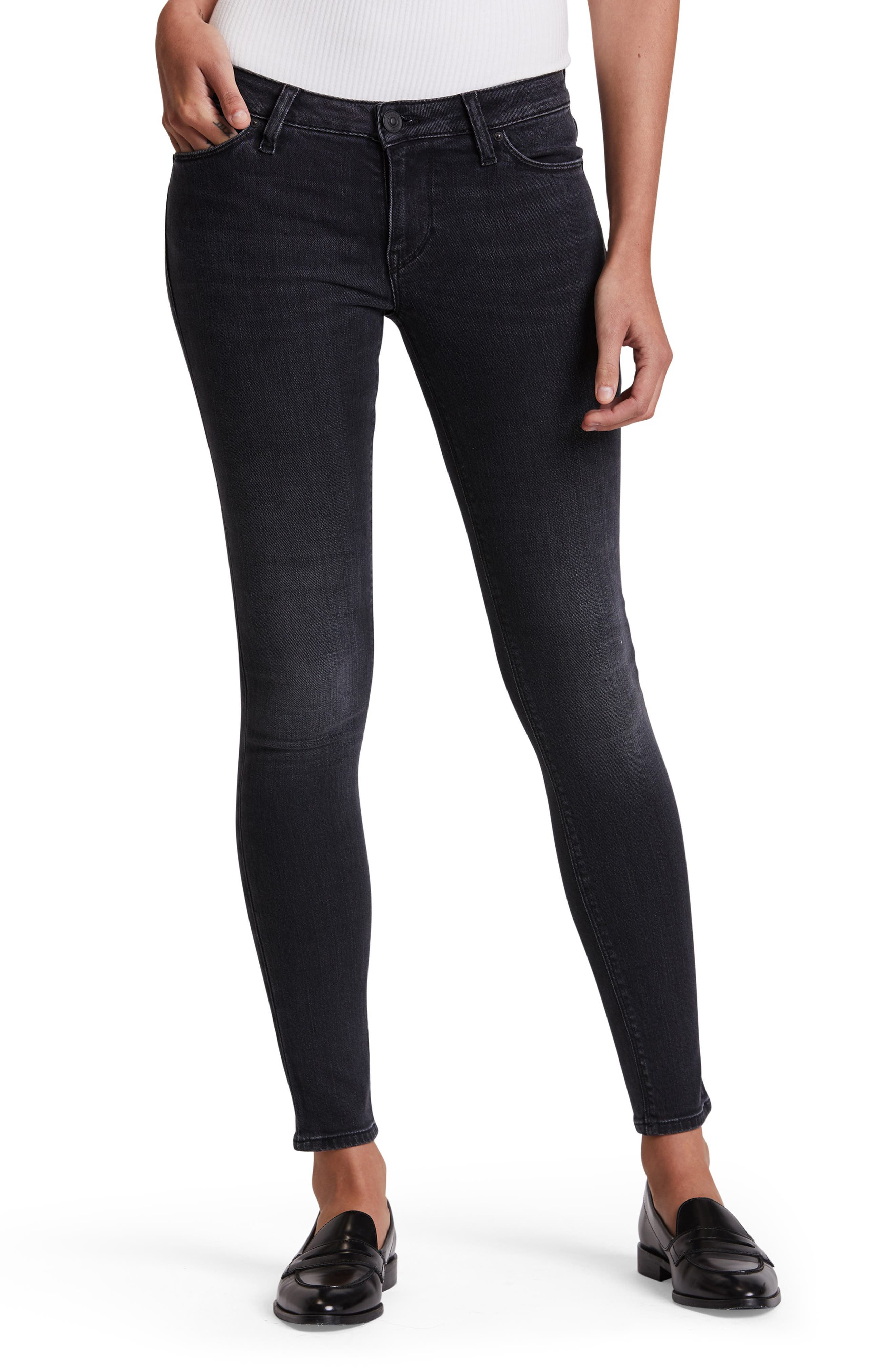 Made from power-stretch denim that smoothes, sculpts and never sags, these mid-rise skinnies will look great every time you put them on. Style Name: Hudson Jeans Krista Super Skinny Ankle Jeans. Style Number: 5892628. Available in stores.