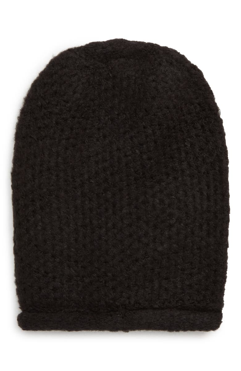FREE PEOPLE Dreamland Knit Beanie, Main, color, 001