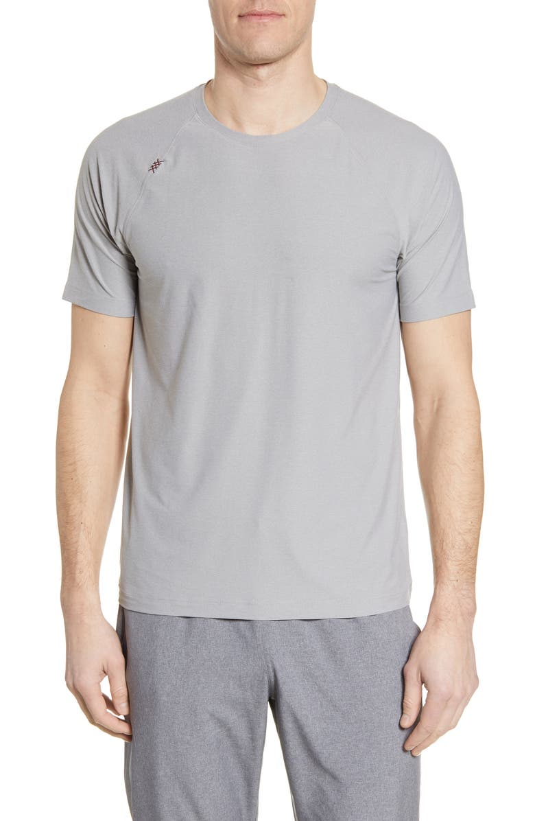 RHONE Reign Performance T-Shirt, Main, color, LIGHT GREY HEATHER