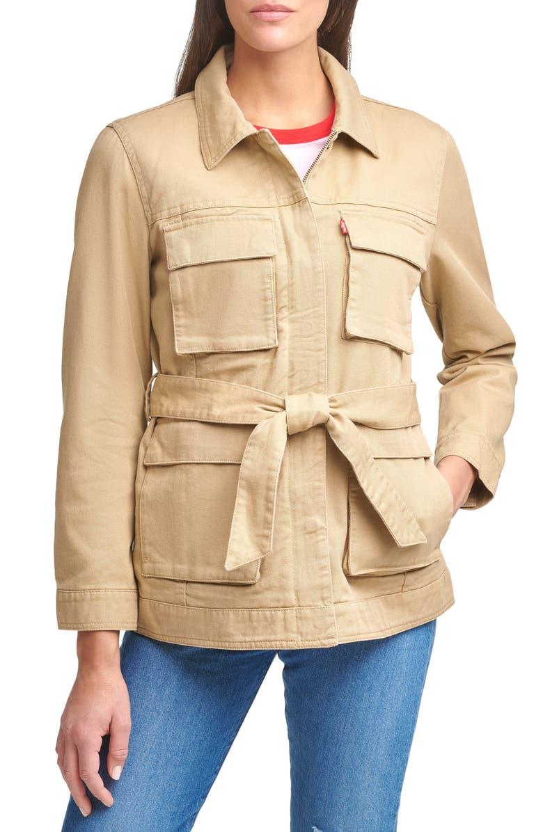 LEVI'S<SUP>®</SUP> Safari Denim Jacket, Main, color, KHAKI