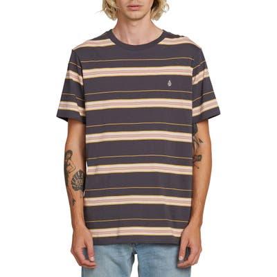 Volcom Shaneo Stripe T-Shirt, Grey