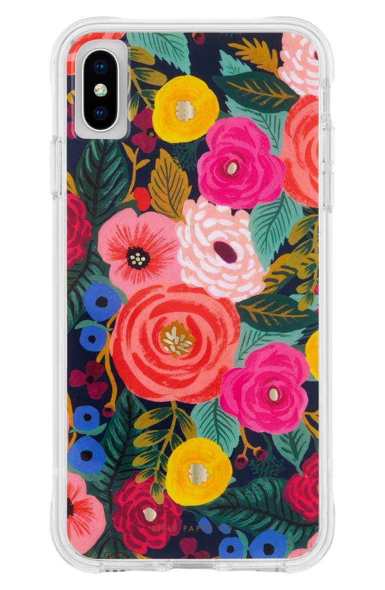 CASE-MATE<SUP>®</SUP> x Rifle Paper Co. Juliet Rose iPhone X/XS/XS Max & XR Case, Main, color, MULTI