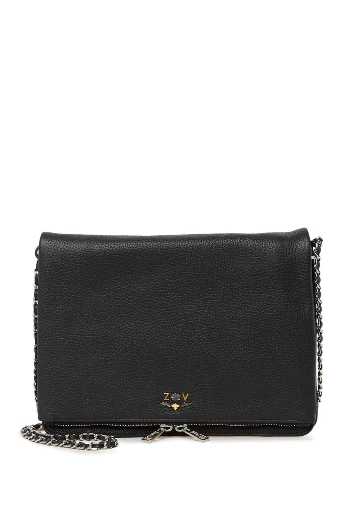 Image of Zadig & Voltaire Rick XL Blason Grained Crossbody Bag
