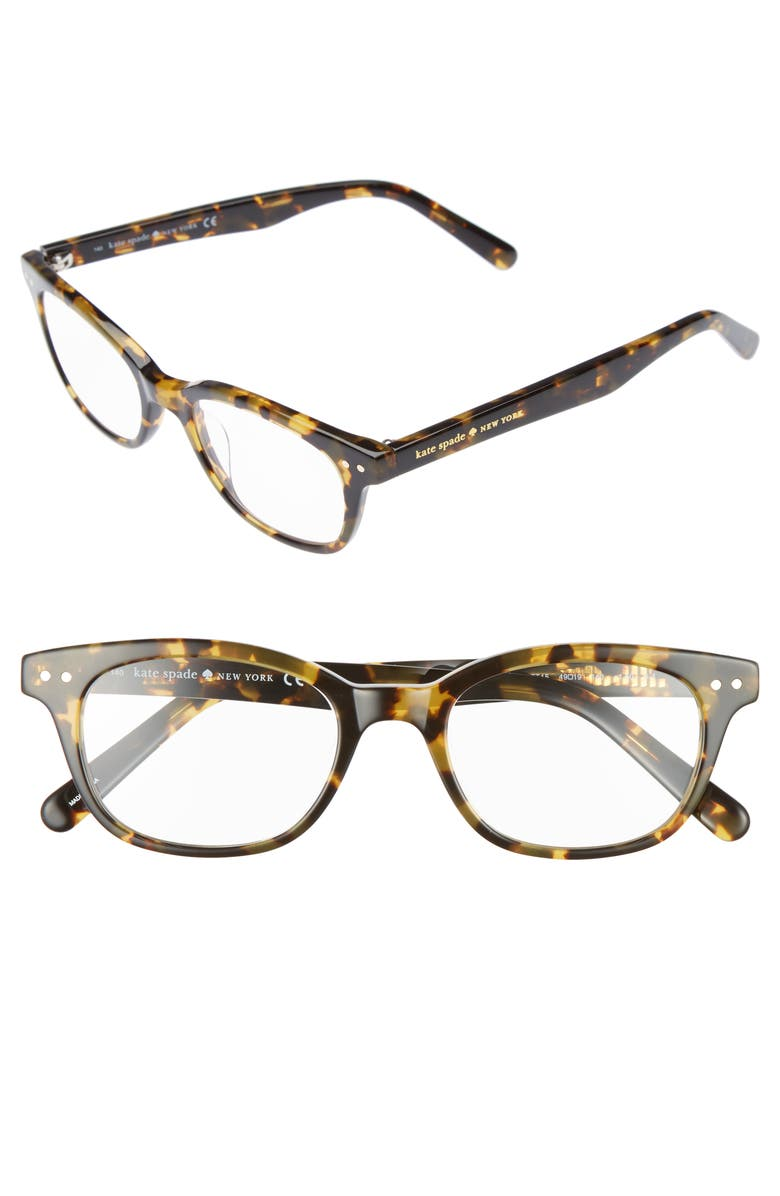 KATE SPADE NEW YORK rebecca 49mm reading glasses, Main, color, TOKYO TORTOISE