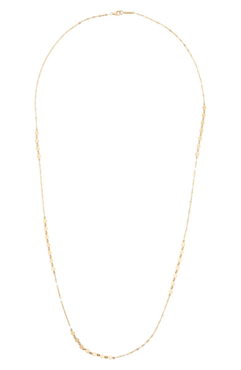LANA JEWELRY Mixed Mini Kite Long Station Necklace, Main, color, GOLD