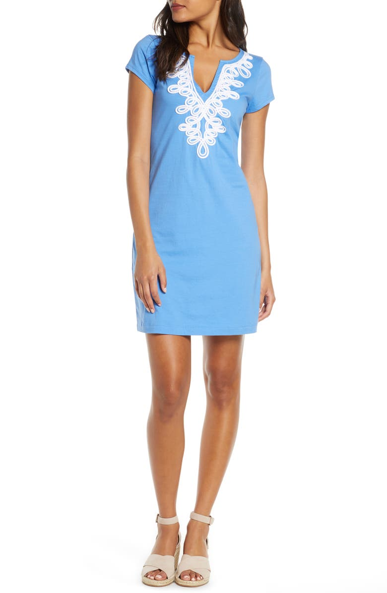 LILLY PULITZER<SUP>®</SUP> Brewster Shift Dress, Main, color, BLUE HAVEN
