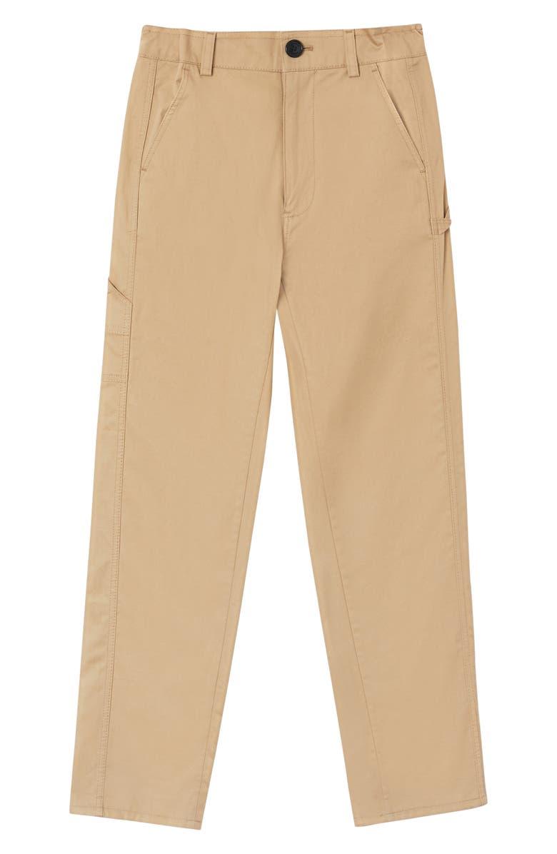 BURBERRY Kaiden Cotton Pants, Main, color, HONEY