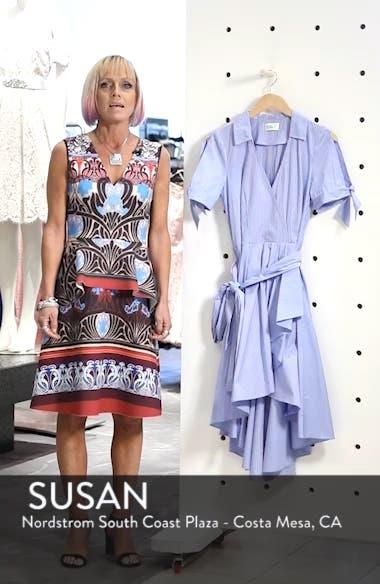 Stripe Faux Wrap Shirtdress, sales video thumbnail