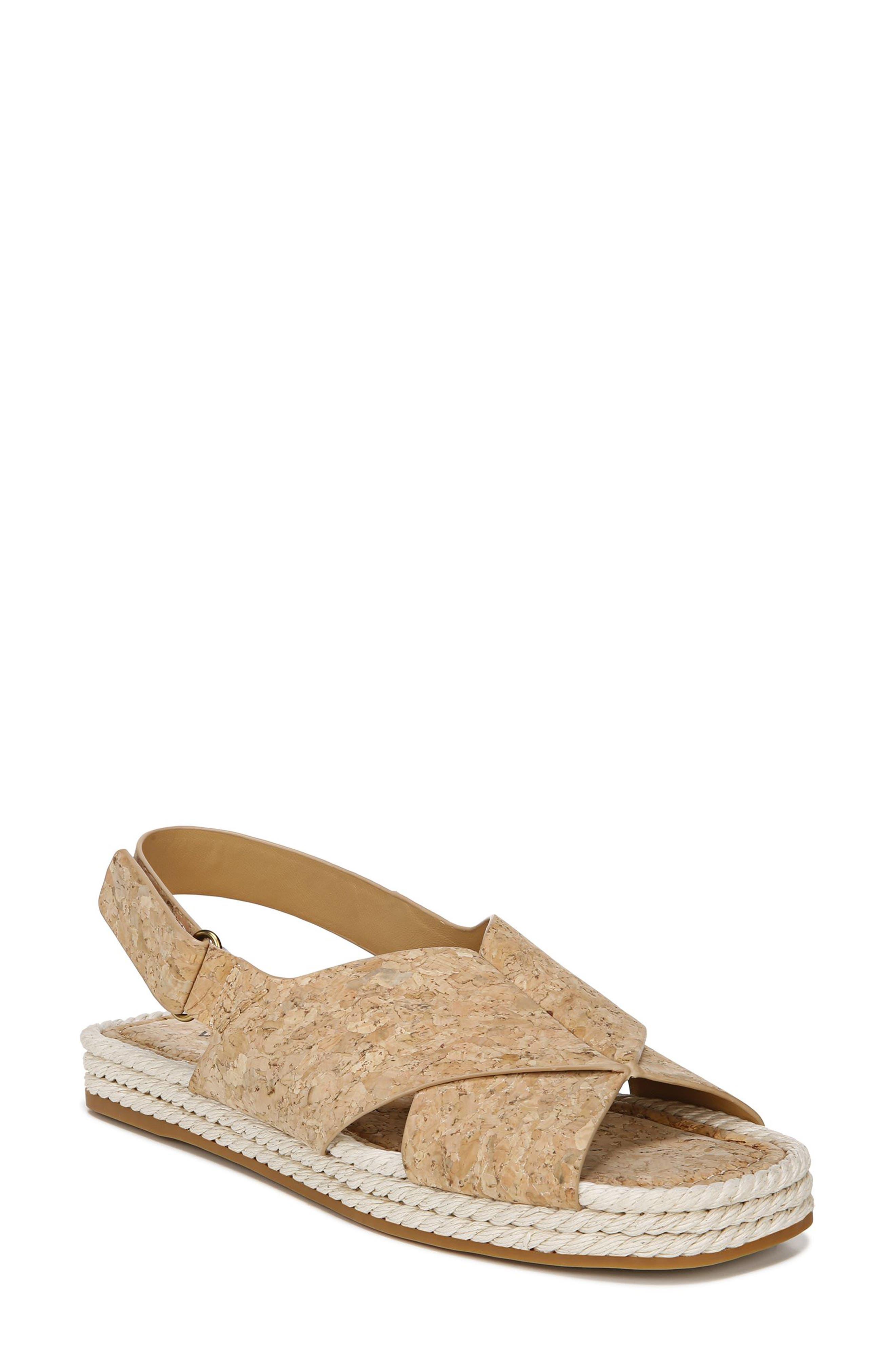 Image of Vince Essen Leather Slingback Espadrille Sandal