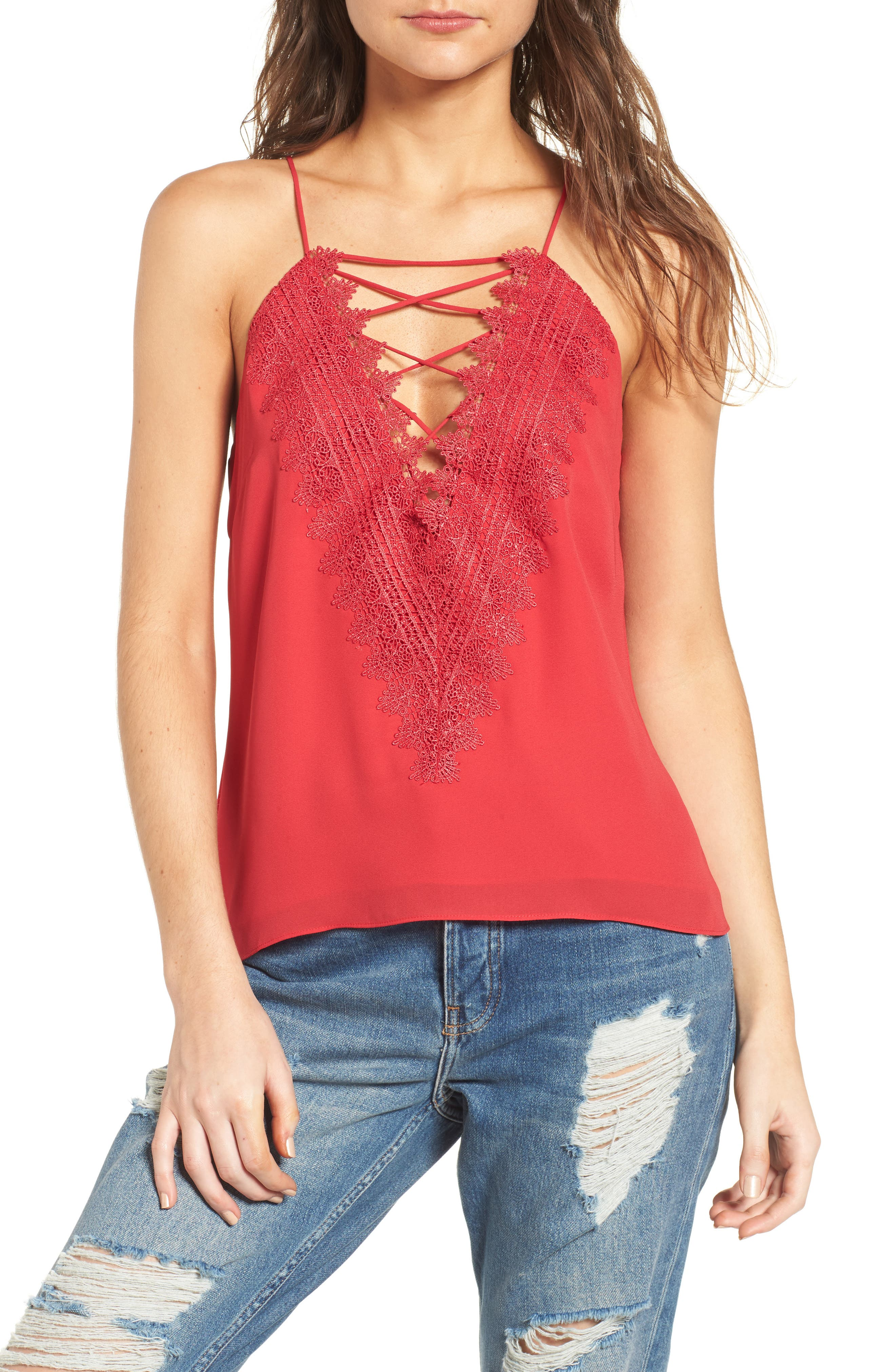 ,                             Posie Strappy Camisole,                             Main thumbnail 74, color,                             600