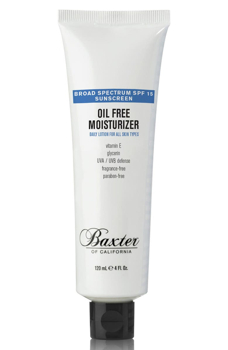 BAXTER OF CALIFORNIA Oil-Free Moisturizer SPF 15, Main, color, NO COLOR