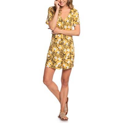 Roxy Damage Love Minidress, Yellow