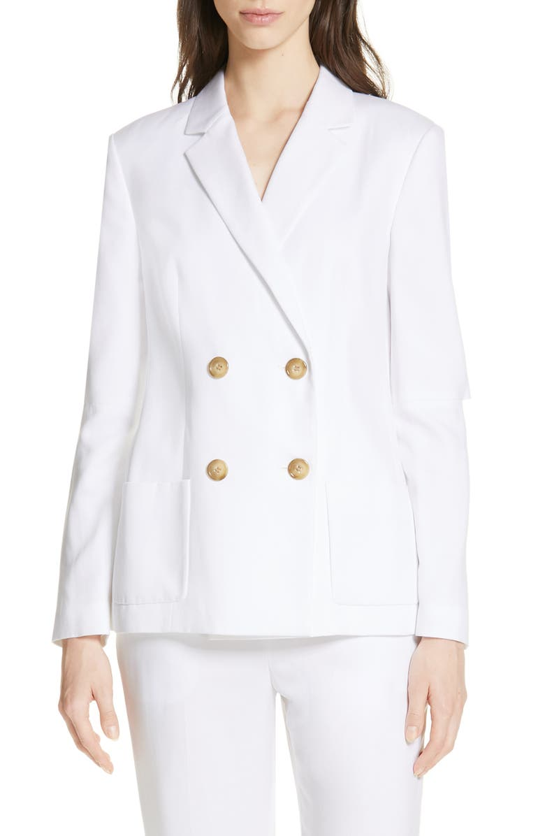 TIBI Slit Sleeve Suiting Jacket, Main, color, WHITE