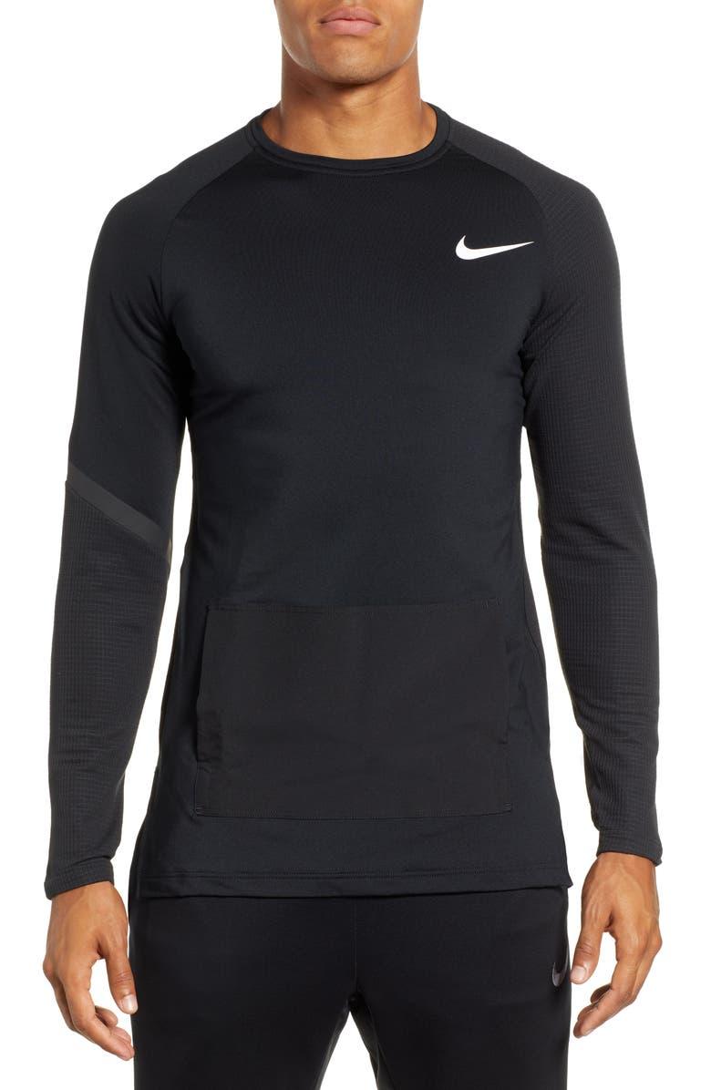 NIKE Pro PX 3.0 Long Sleeve Training T-Shirt, Main, color, BLACK/ WHITE