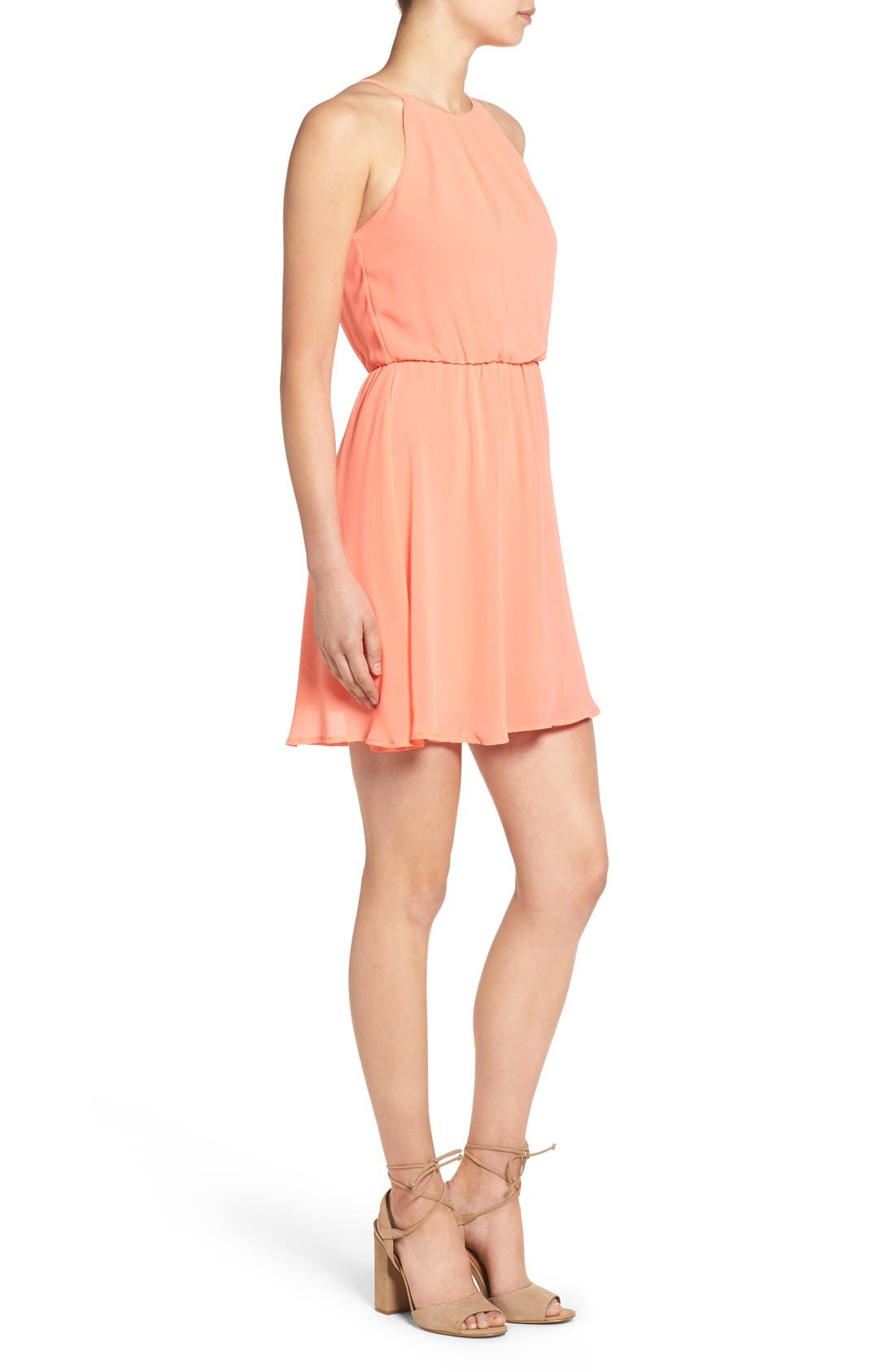 ,                             Blouson Chiffon Skater Dress,                             Alternate thumbnail 244, color,                             951