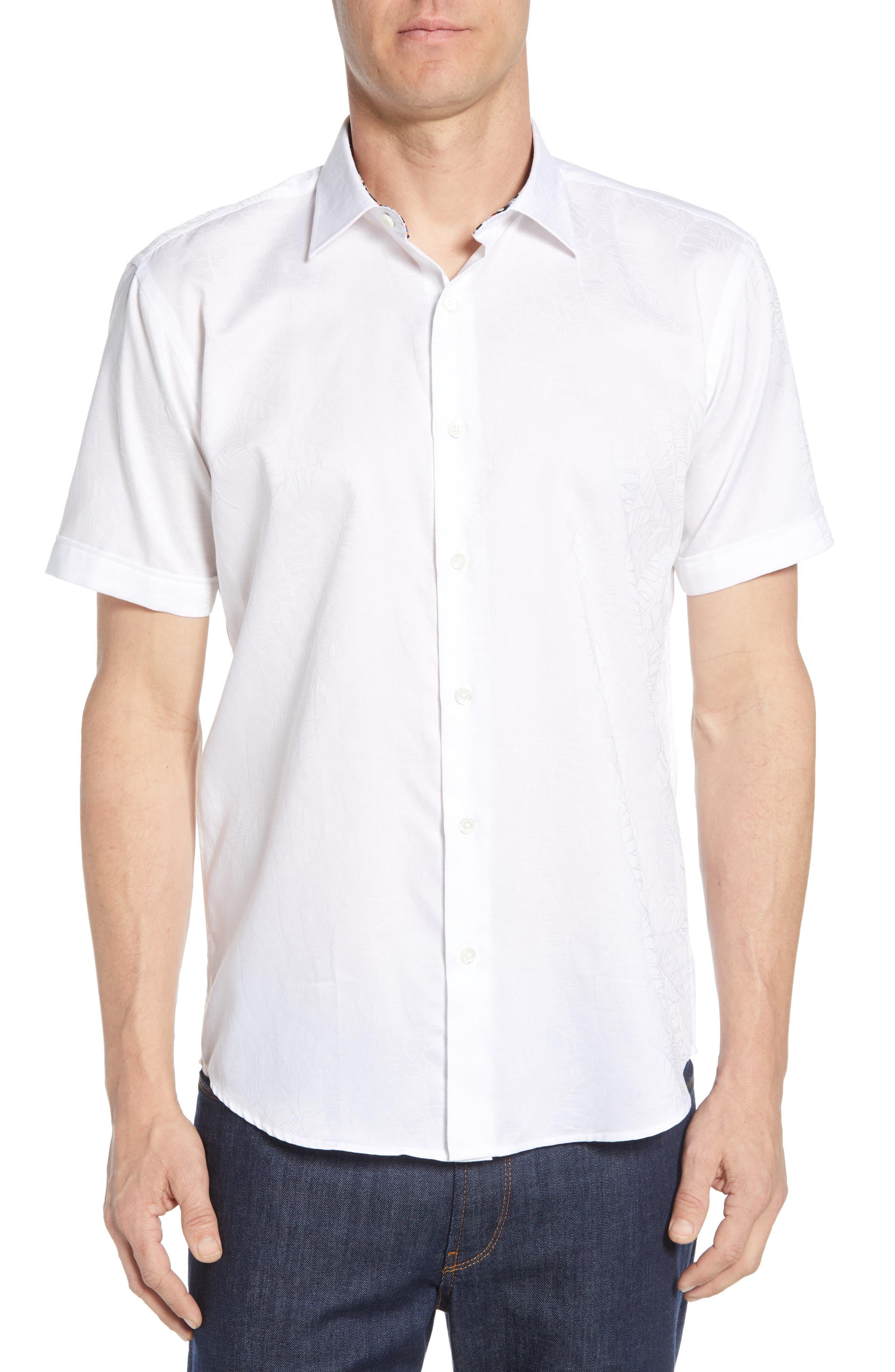 men's bugatchi shaped fit shirt