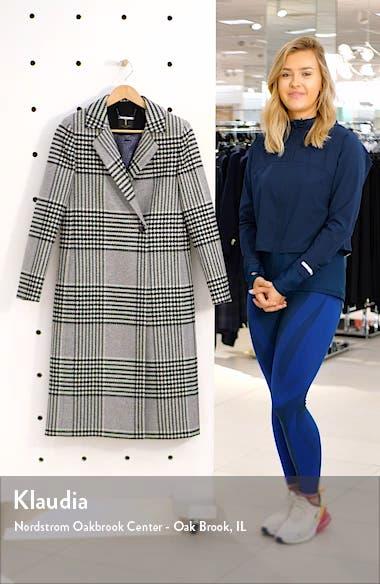 Celinna Plaid Wool Blend Long Coat, sales video thumbnail