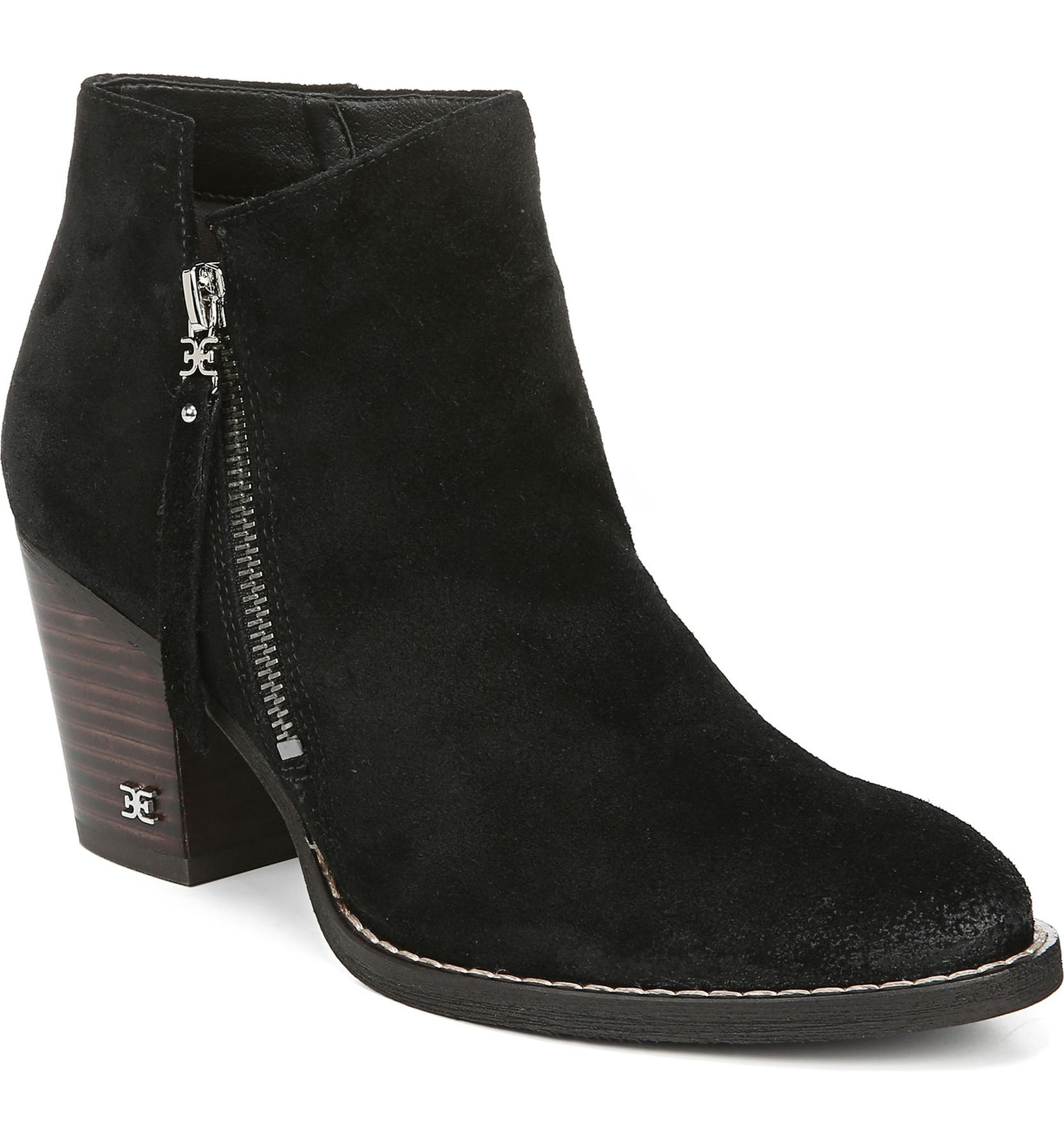 SAM EDELMAN Macon Bootie, Main, color, BLACK LEATHER