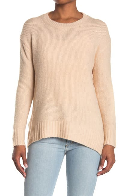 Image of Workshop Crew Neck High/Low Tunic Sweater