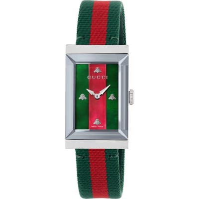 Gucci G-Frame Nylon Strap Watch, 21Mm Mm