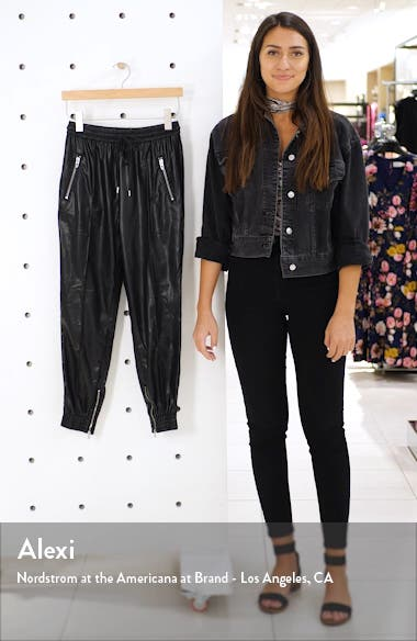 Running Wild Faux Leather Track Pants, sales video thumbnail