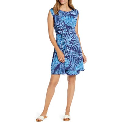 Tommy Bahama Through The Fronds Side Twist Sleeveless Dress, Blue