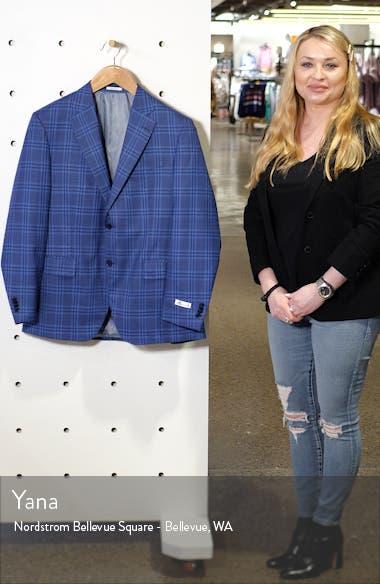 Flynn Classic Fit Plaid Wool Sport Coat, sales video thumbnail