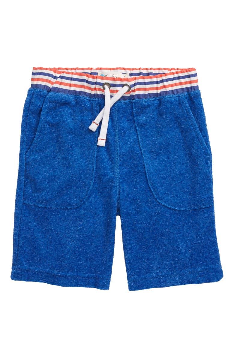 MINI BODEN Towelling Shorts, Main, color, 424
