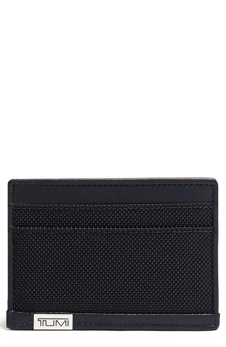 TUMI Alpha Chrome Slim Card Case, Main, color, BLACK CHROME