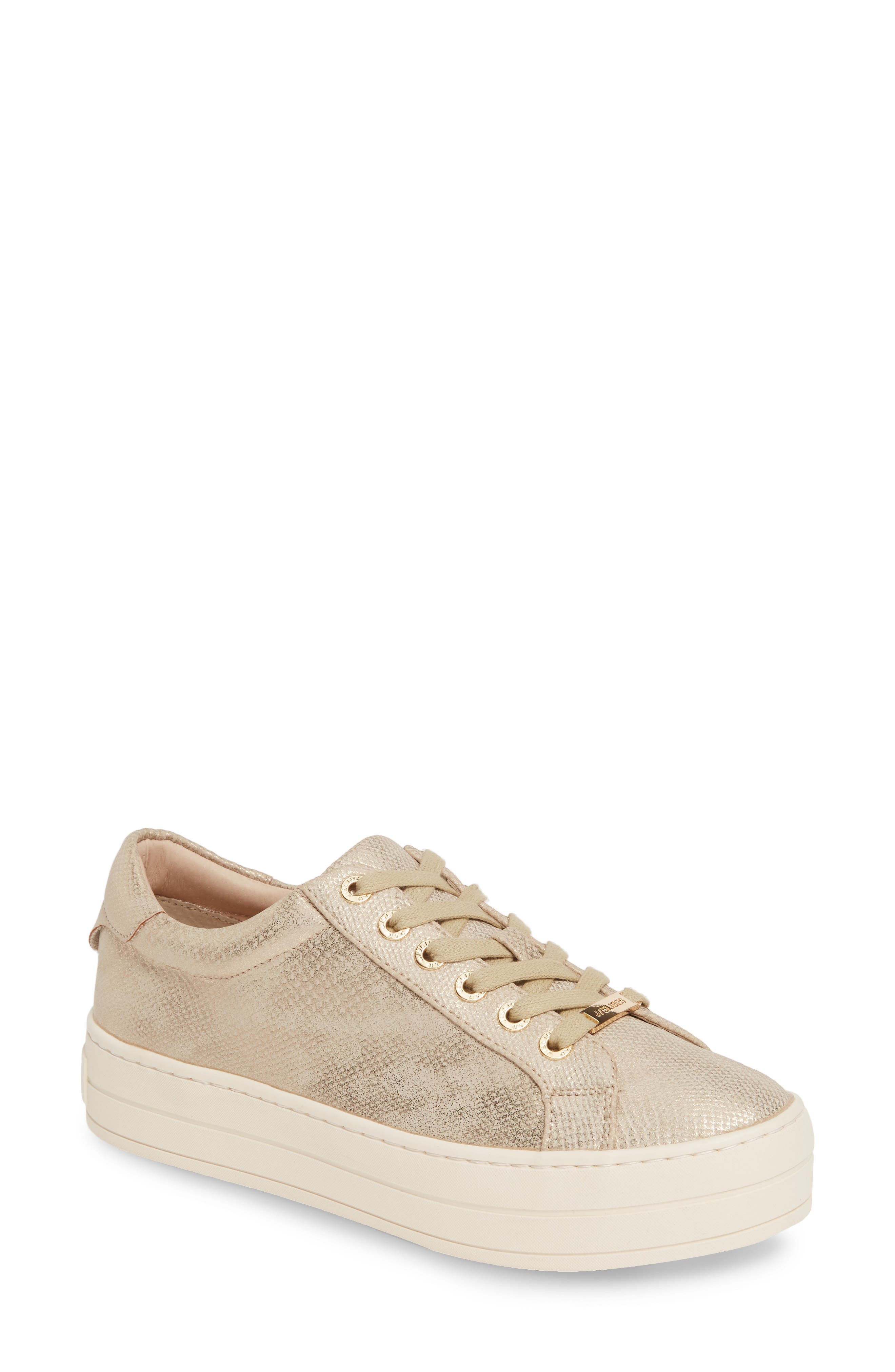 Jslides Hippie Platform Sneaker, Metallic