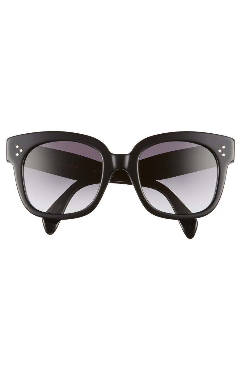 CELINE 54mm Square Sunglasses, Alternate, color, BLACK/ SMOKE