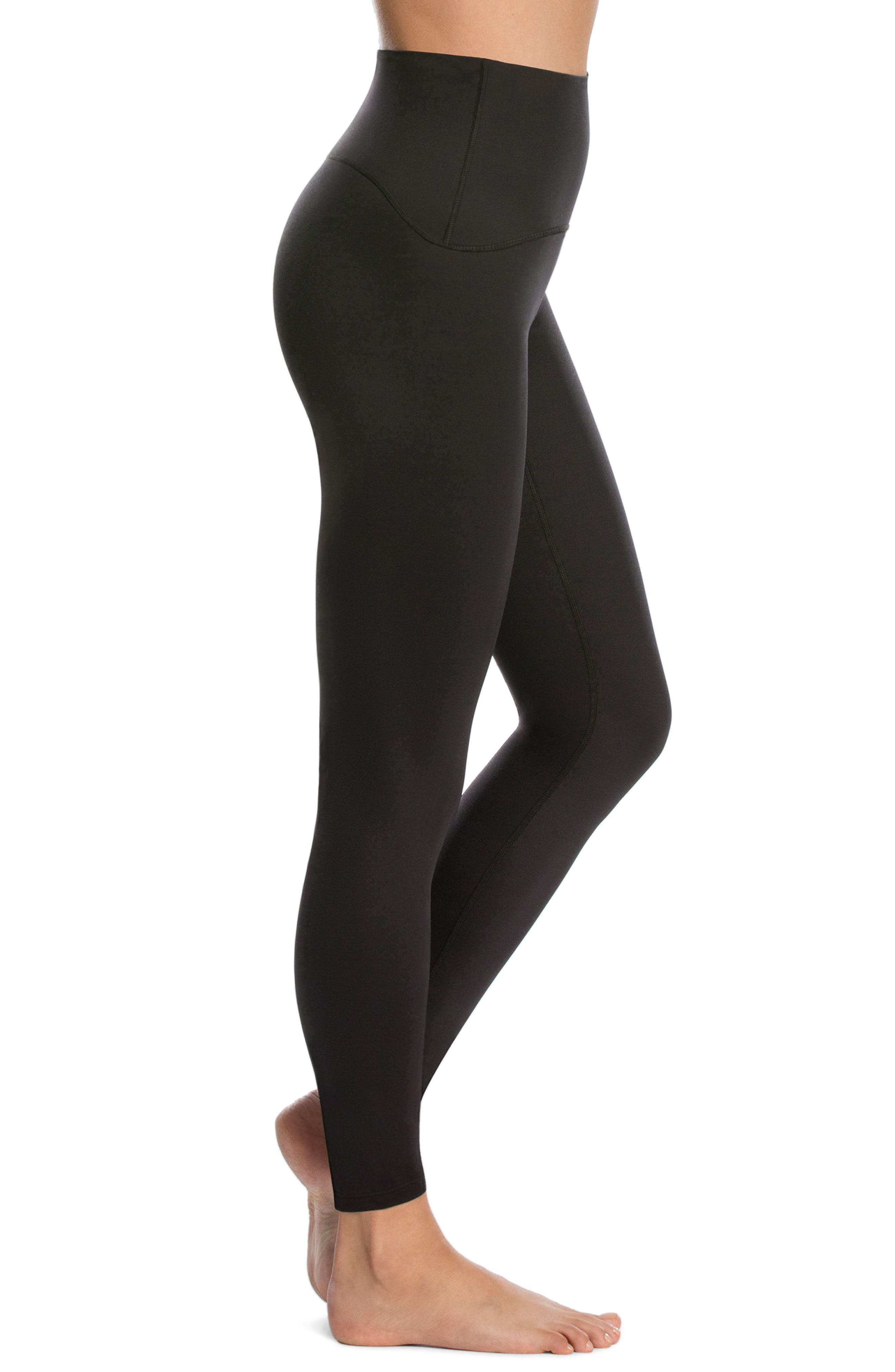 ,                             Active Leggings,                             Alternate thumbnail 3, color,                             BLACK