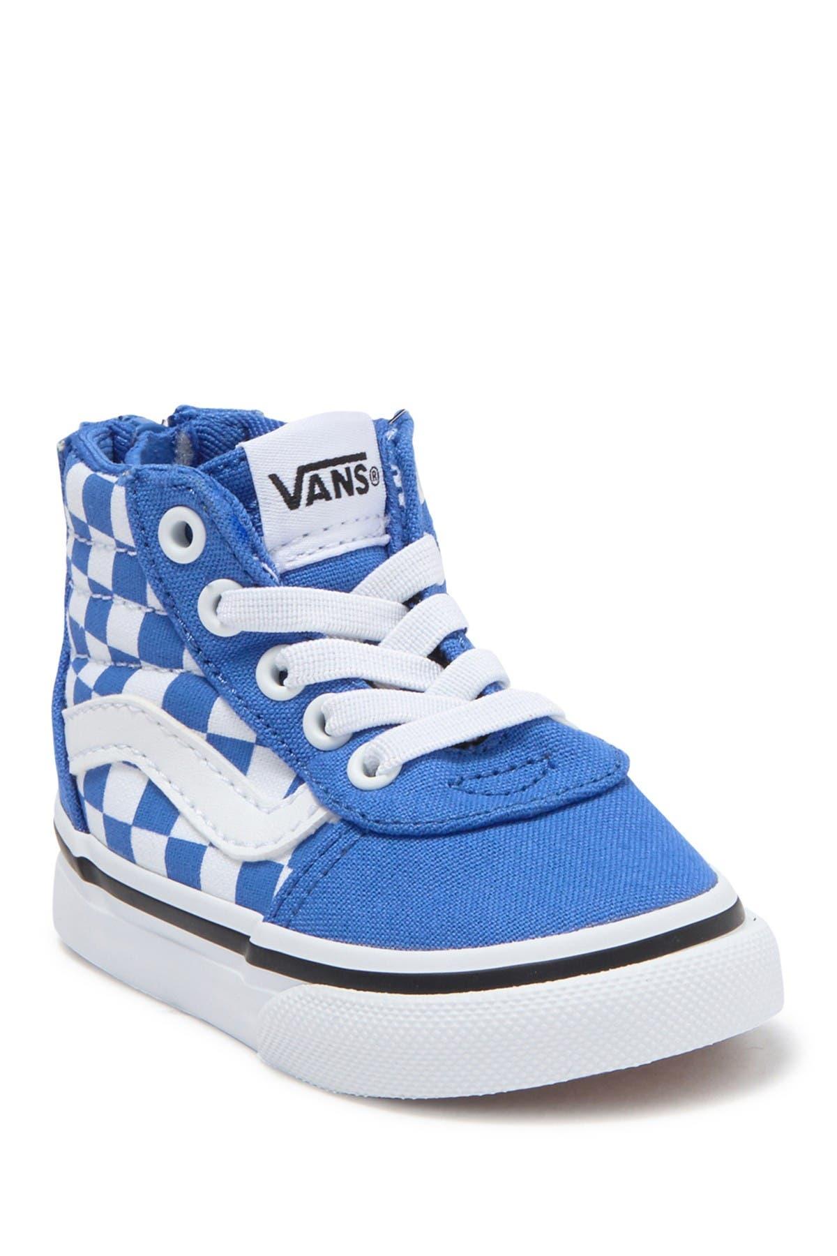 Image of VANS Ward Checkered Print High Top Zip Sneaker