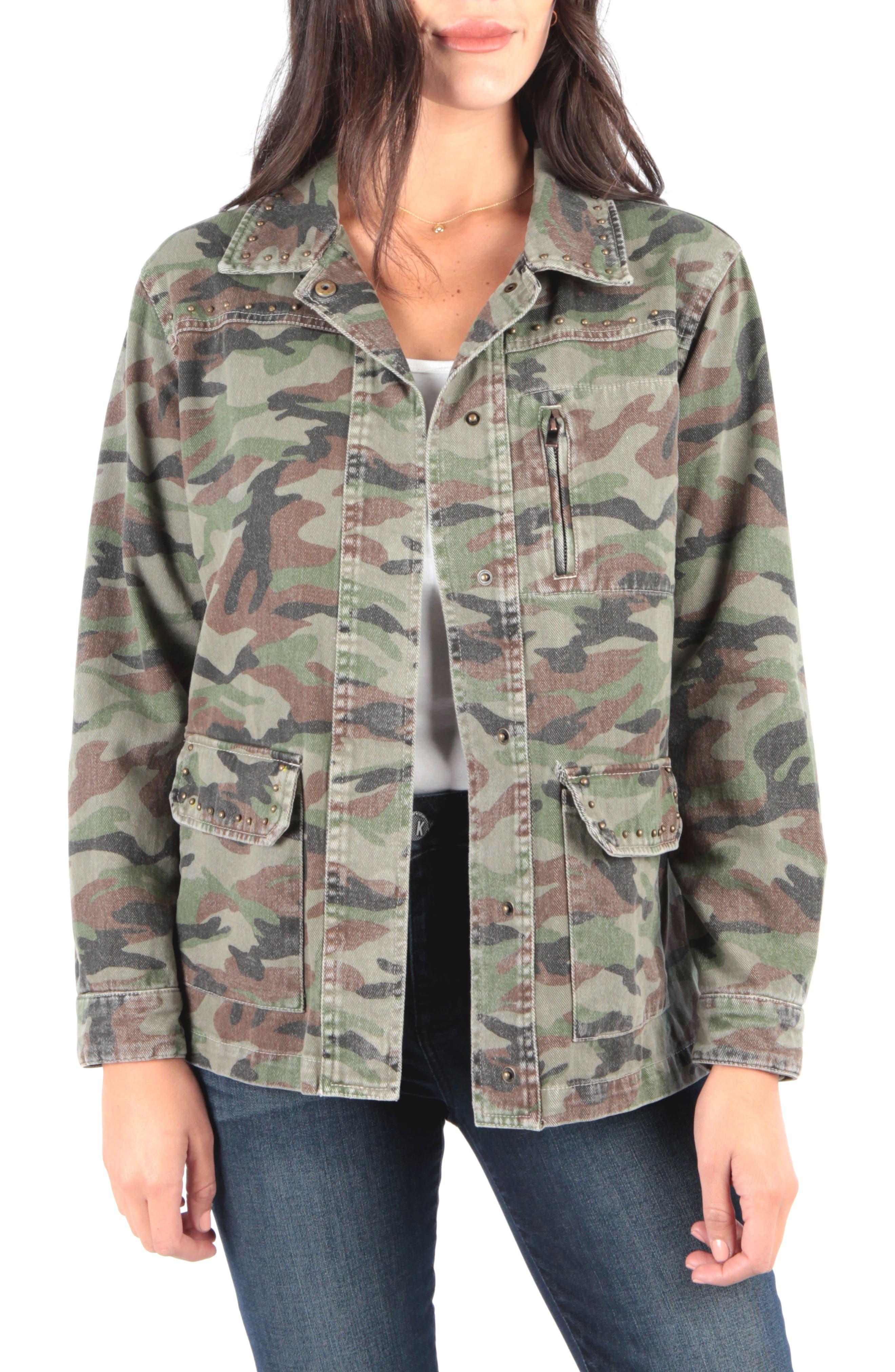 Claudia Camo Jacket, Main, color, OLIVE