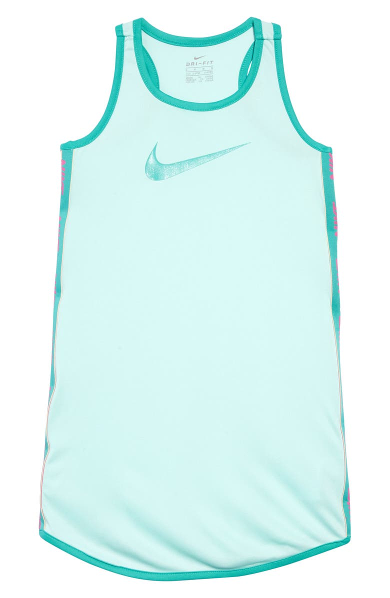 NIKE Dry Swoosh Tank Dress, Main, color, 440
