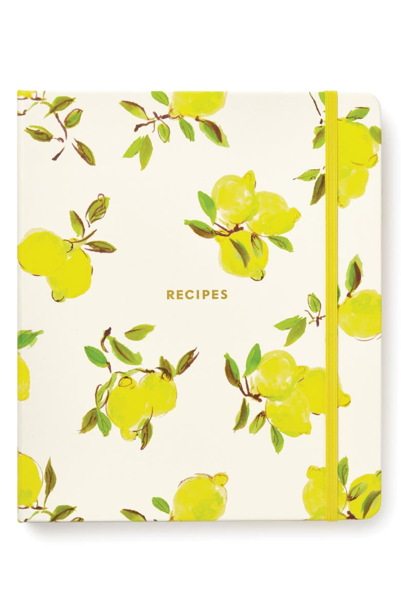 KATE SPADE NEW YORK lemon recipe book, Main, color, 730