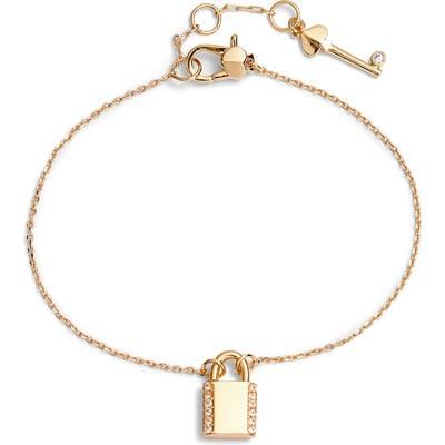 Kate Spade New York Pave Lock Mini Pendant Bracelet