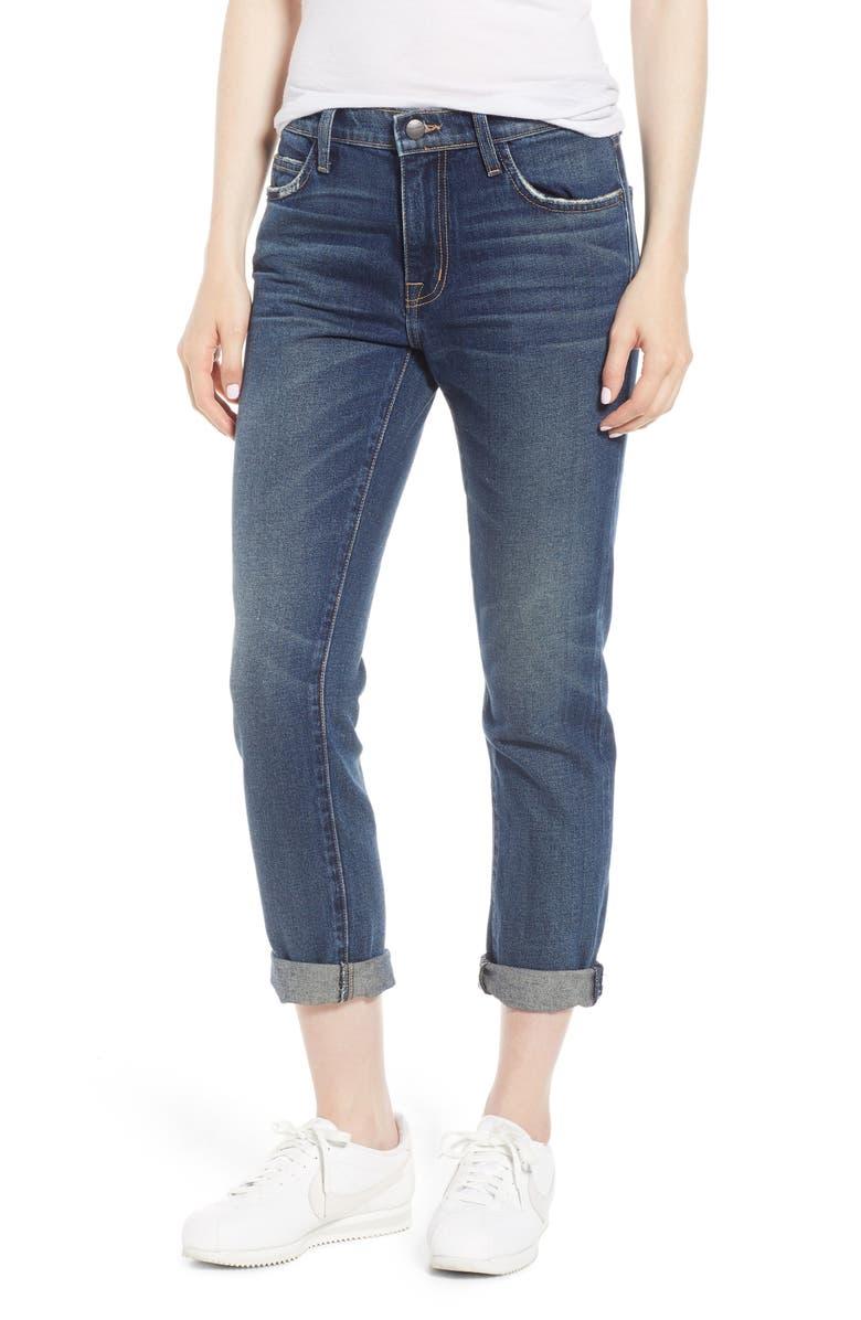 CURRENT/ELLIOTT The Fling Boyfriend Jeans, Main, color, 1 YEAR WORN RIGID INDIGO