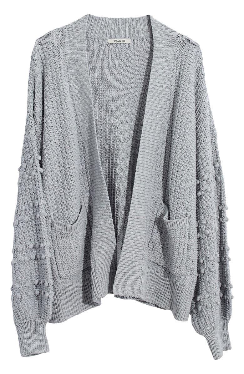 MADEWELL Bobble Cardigan Sweater, Main, color, COOL FOG