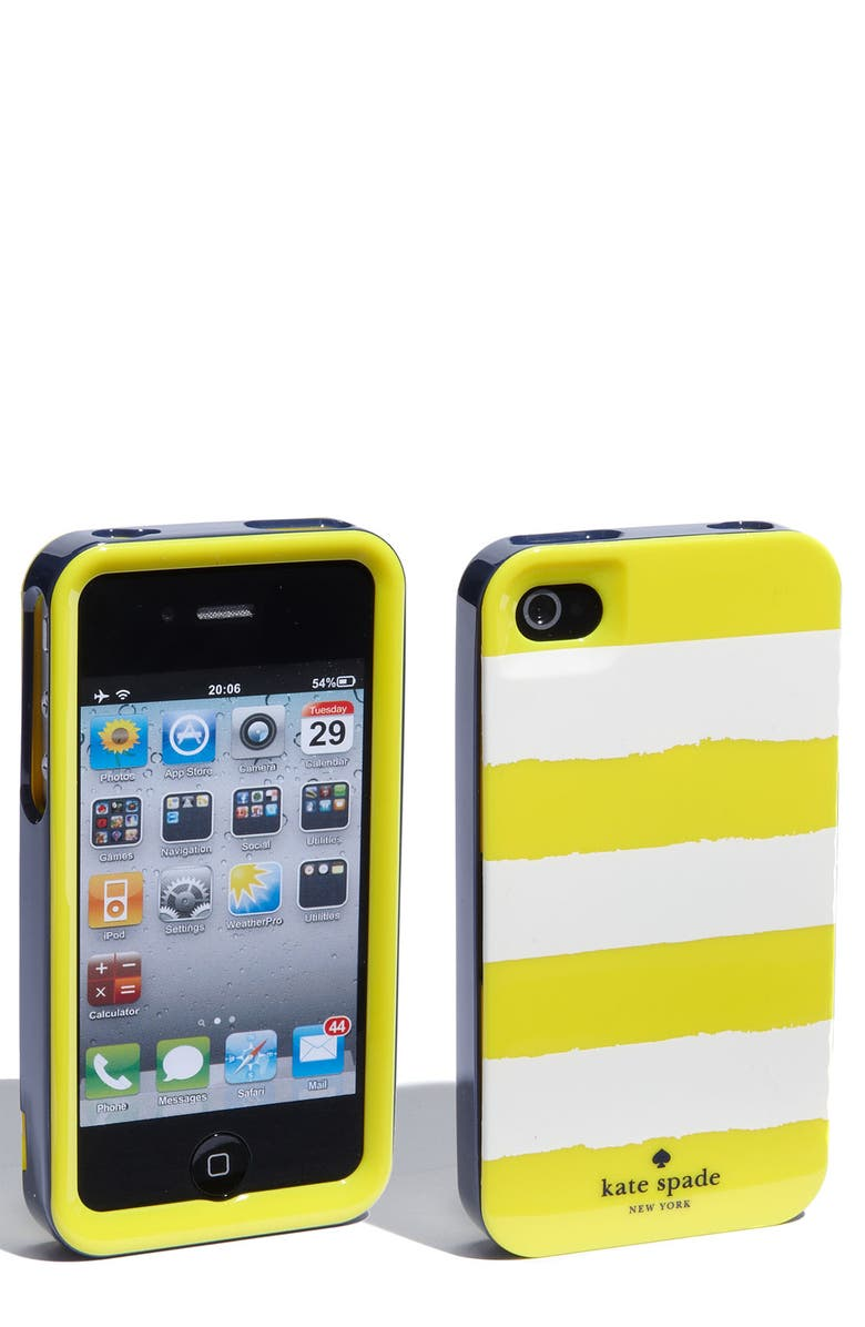 KATE SPADE NEW YORK 'rugby' iPhone 4 & 4S case, Main, color, 705
