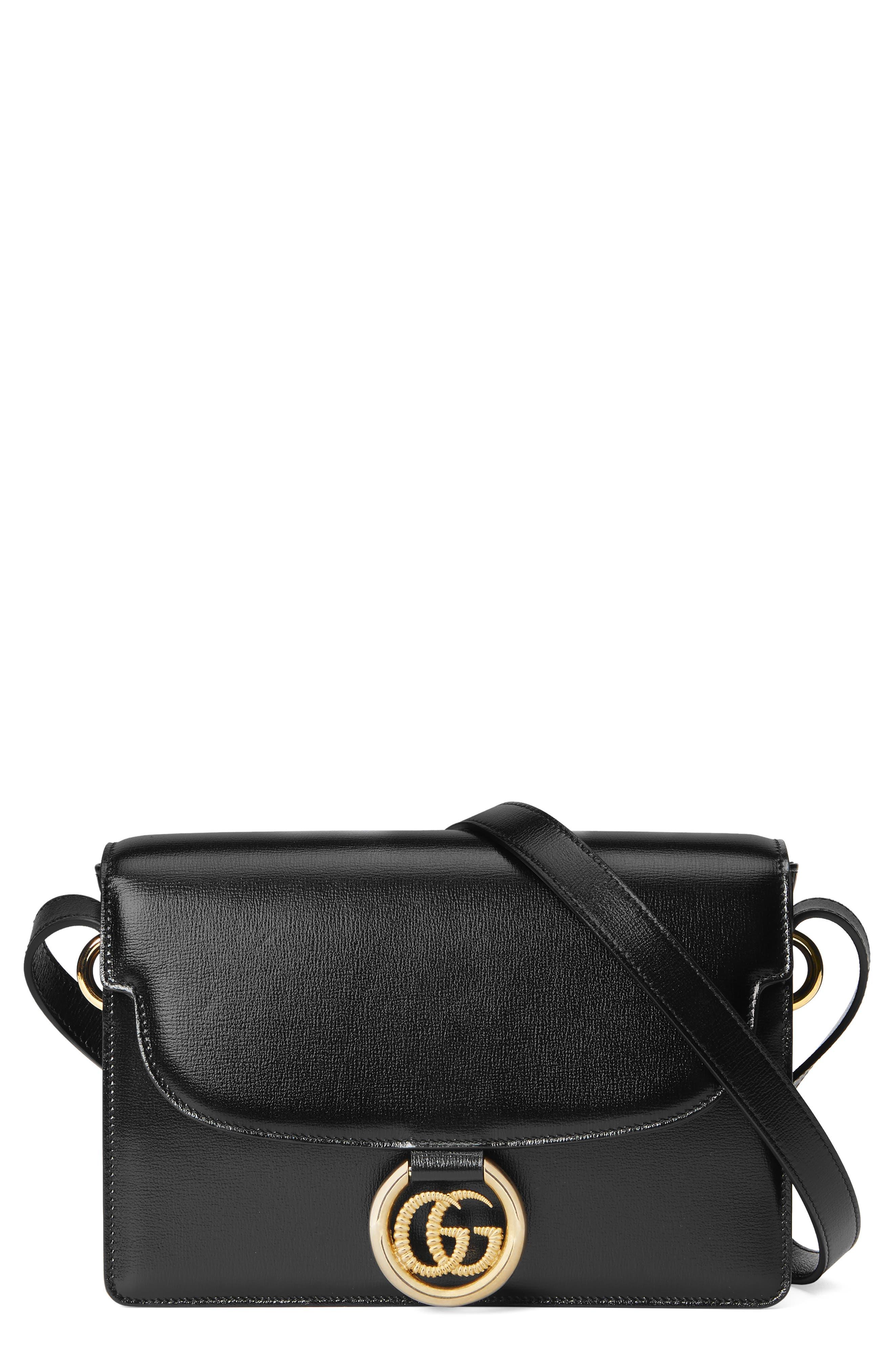 Gucci Shoulder Small GG Ring Leather Shoulder Bag